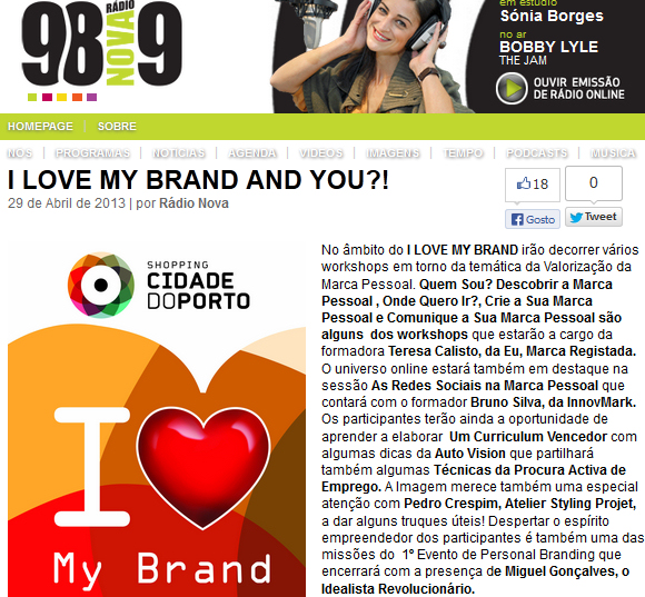 I Love My Brand - Radio Nova 98.9FM